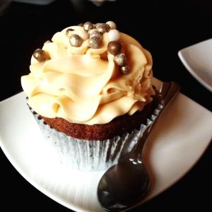 Cupcake de banana con vainilla