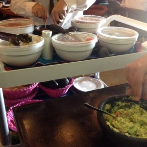 Guacamole a la mesa