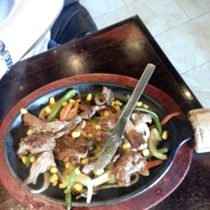 Fajitas de filete de res