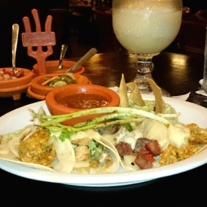 Tacos Super Ranchero y Margarita de Limón