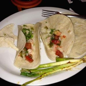 Tacos con camarones
