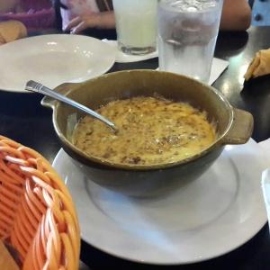 Queso Fundido con Chorizo