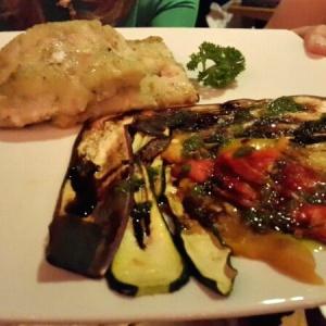 Corvina alla piastra con verdure grigliate