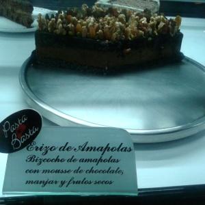Torta erizo de amapolas