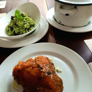 Pollo Campesino y Arroz al Pesto