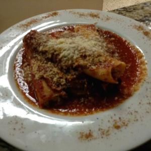 Canelones de ricota y espinacas en salsa napolis!!!