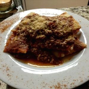Raviolis de ricota y espinaca en salsa Boloña!!!